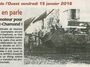恢复圣Chamond坦克