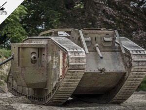MARK IV of the Bovington Tank Museum at the Carrousel de Saumur 2018