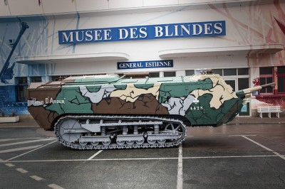 装甲博物馆在卢瓦尔河畔卢瓦尔河(Vues sur Loire)