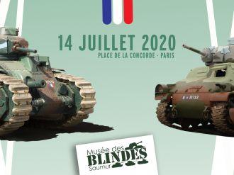 Zwei Panzer aus dem Panzermuseum am 14. Juli in Paris