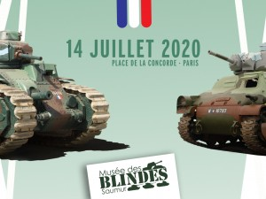 Two tanks from the Armored Museum on July 14 in Paris