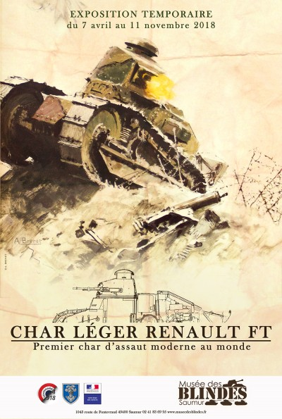 Exposition : Char léger Renault FT