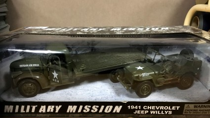 Military mission 1941 CHevrolet and Jeep