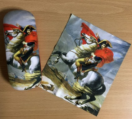 Napoleon glasses case and matching cloth