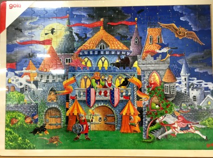 GOKI wooden puzzle Wonderful castle