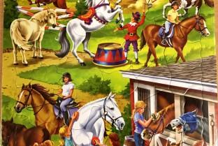 Karton Puzzle 50 Stück Pferde-Pferde