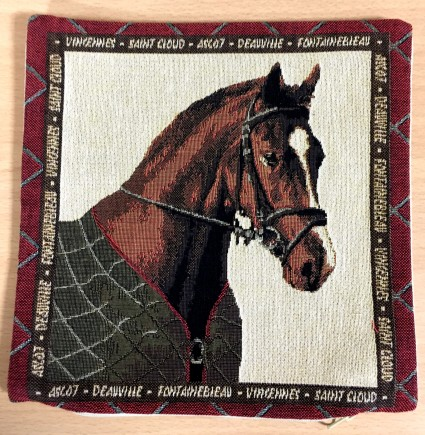 Mini Kissenbezug 22X22 cm Pferd 1