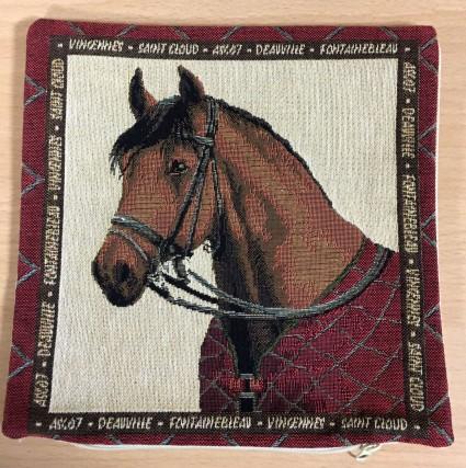 Mini Kissenbezug 22X22 cm Pferd 2
