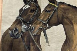 Cushion cover 45X45cm duo horse