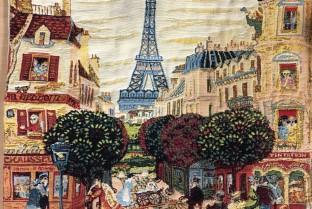 垫套45X45cm巴黎之旅埃菲尔铁塔