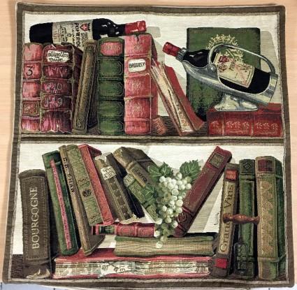 Kissenbezug 45X45cm Bücher und Weine 1