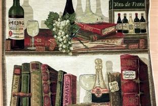 垫套45X45cm书籍和葡萄酒2