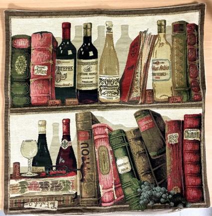 垫套45X45cm书籍和葡萄酒3