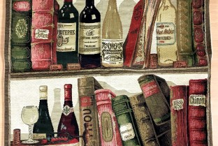 Cushion cover 45X45cm Books and Wines 3