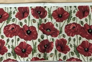 垫套长86X22厘米罂粟花