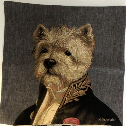 Kissenbezug 45X45cm Hund grauer Hintergrund