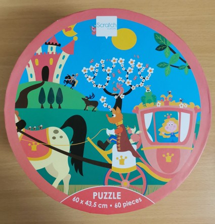60 piece Princess in carriage puzzle