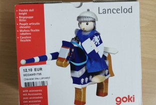 Lancelod GOKI articulated knight wood