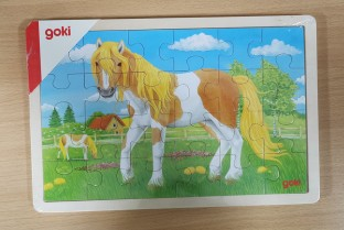 GOKI wooden puzzle Summer on the meadow