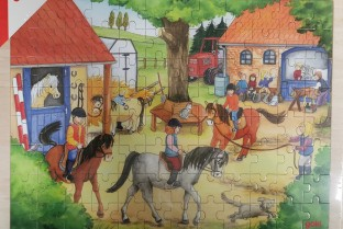 Wooden puzzle GOKI the Merry-go-round