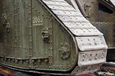 Arrival of the MARK IV of the Bovington Tank Museum