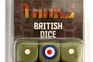 坦克:英式骰子套装